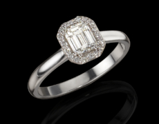 LeoClassics, Ring 750/- Weißgold mit Diamanten