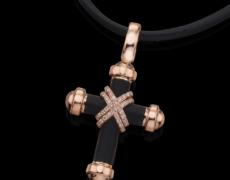 LeoHomme, Kollier 750/- Gold mit Diamanten