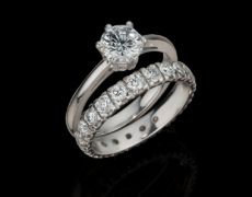 LeoSolitaires, Ring 750/- Gold mit Diamanten