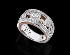 PantaRhei, Ring 750/- Gold mit Diamanten